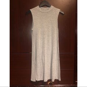 Gray loose mini dress